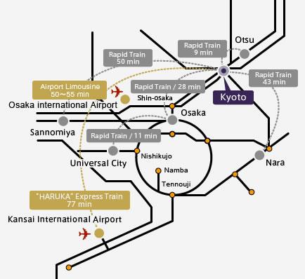 Subway Map Kyoto English.Map Transportation Hotel Granvia Kyoto
